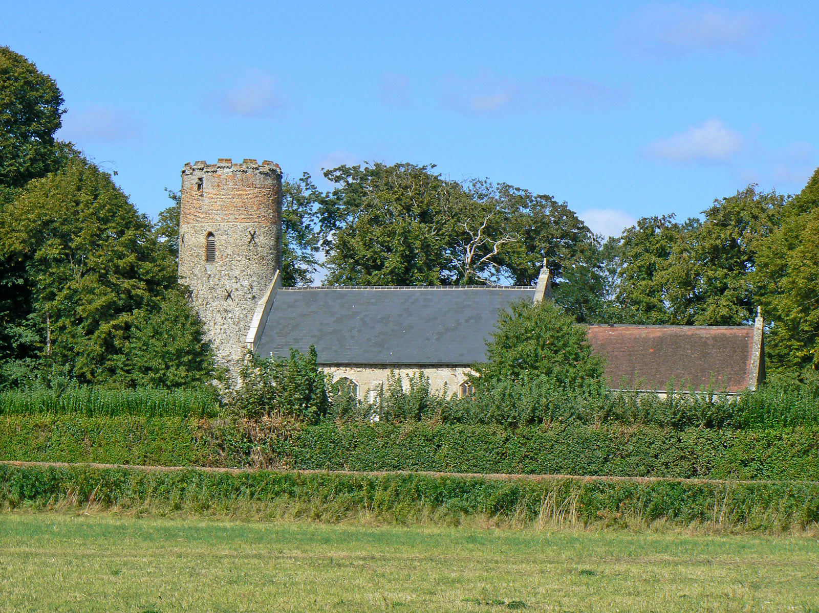 Burgh Castle Norfolk Suffolk Border Including Roman Fort
