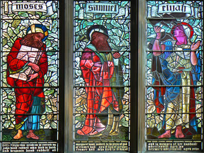 Moses Samuel Elijah Stained Glass Window