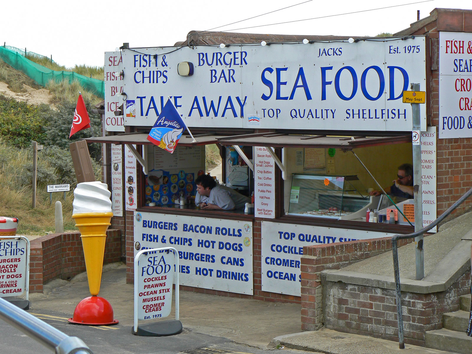 Hemsby norfolk including hemsby beach for Fish fast food near me