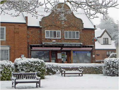 Post Office in the snow