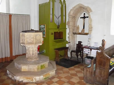 Church Font and Organ