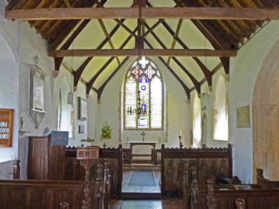 Inside Irstead Church