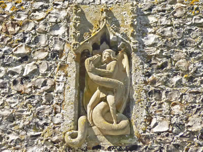 St Michael Carving
