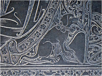 Brass Rubbing Dog