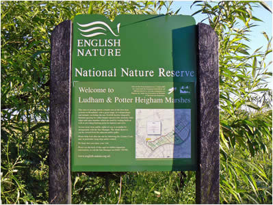 Ludham Marshes Sign
