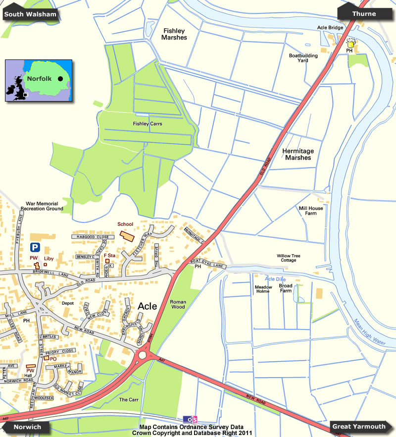 Acle Map