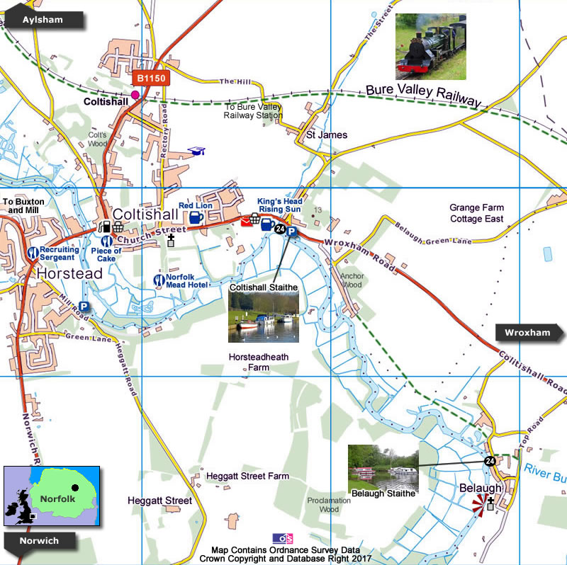 Belaugh Map