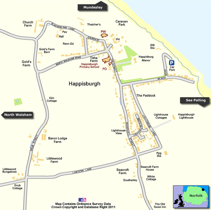 Happisburgh Map