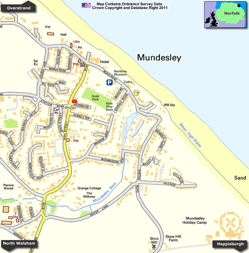 Mundesley Map