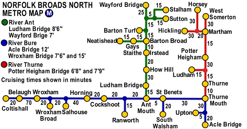 Norfolk Broads Metro Map