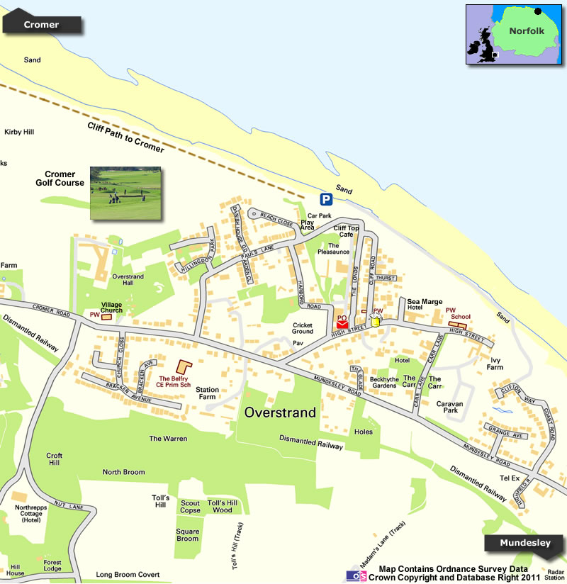 Overstrand Map