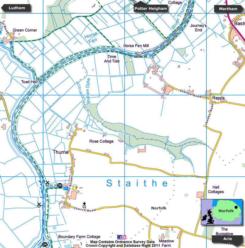 Thurne Map
