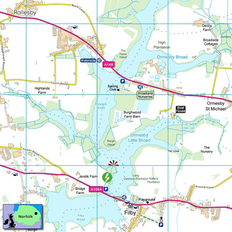 Trinity Broads Map