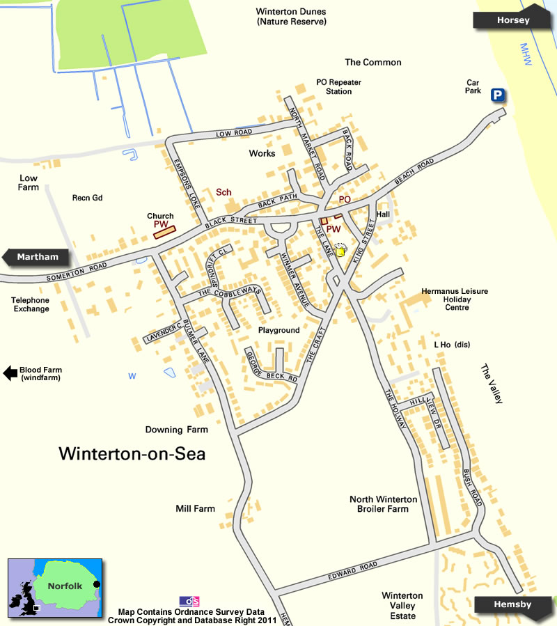 Winterton Map