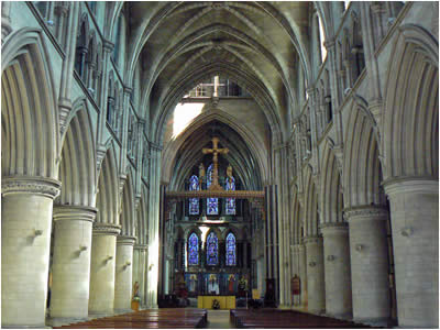 Inside Norwich Catholic Cathedral