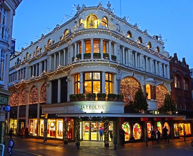Jarrolds Store - Norwich Christmas Xmas Lights, Norfolk