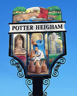 Potter Village Sign