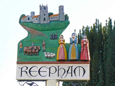 Reepham Town Sign