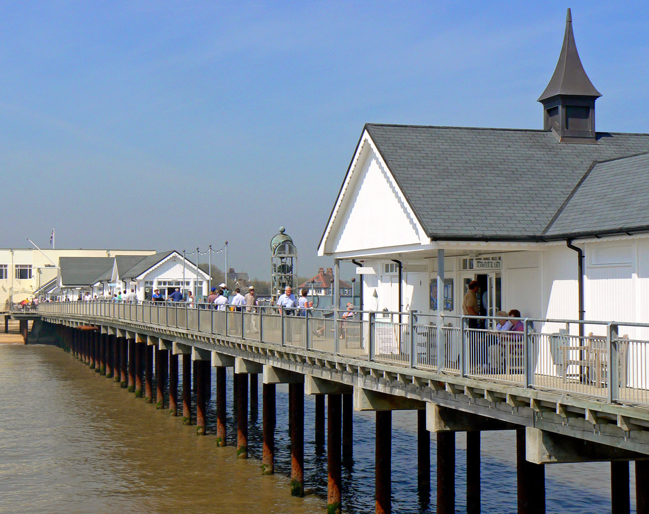 Southwold, Suffolk, including the Pier Lighthouse and Beach Huts