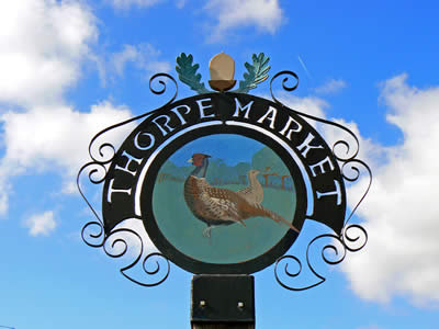 Thorpe Market Sign