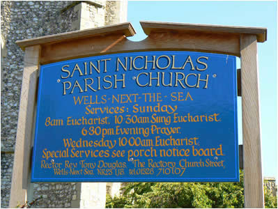 Wells Church Sign