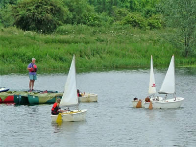 Optimist Sailing at Whiltlingham