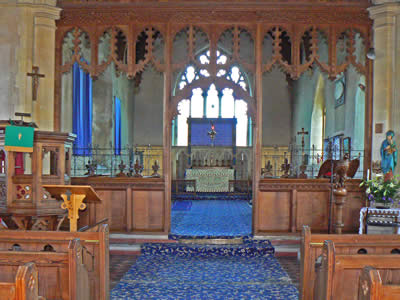 Inside Winterton Church