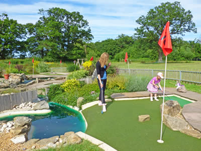 Play mini-golf